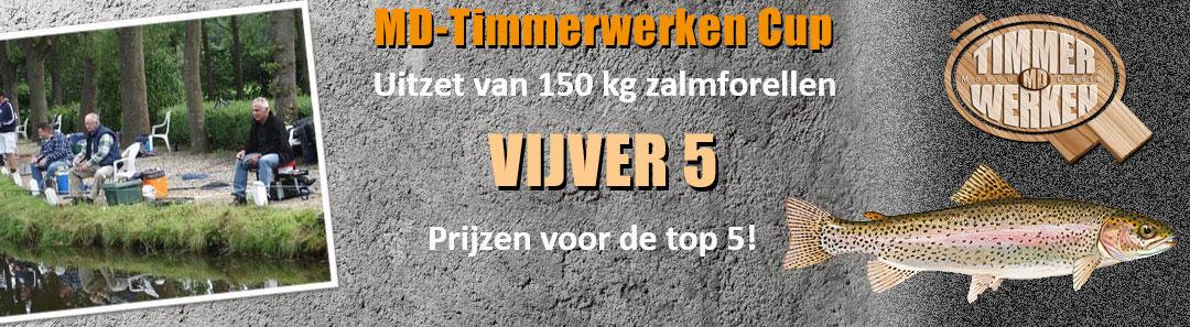 MD-Timmerwerken Cup; Viswedstrijd met uitzet 150 kg zalmforellen